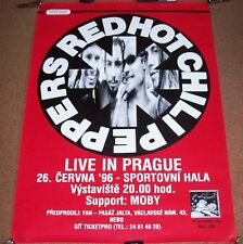 RED HOT CHILLI PEPPERS MOBY RARE CONCERT POSTER JUNE 26th 1996 PRAGUE CZECH REP