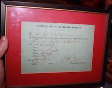 Certificate of Mustering MA 2nd Volunteer Infantry Thomas Higgins Civil War 1864