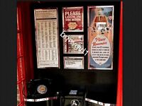 K6 Telephone Box Jubille Notice Board Prints