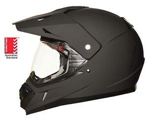 Dual sport helmet Road Adventure full face motocross motorcycle Dirt MATT BLACK