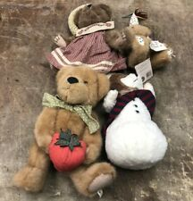 boyds bears plush Lot Of 4