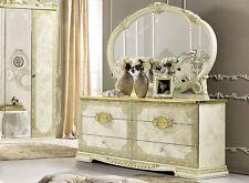 grosse kommode schlafzimmer kommode schubladen beige gold hochglanz mobel italien