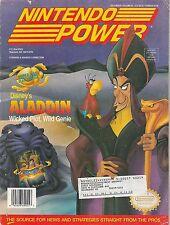 #55  NINTENDO POWER video game magazine ALADDIN