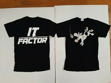 Lot Of 2 TNA Wrestling Bobby Roode It Factor T-Shirt impact robert wwe nxt SZ S