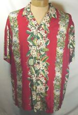 Hawaiian Reserve Collection Aloha Hawaiian Shirt Men's Pineapples Floral Size XL