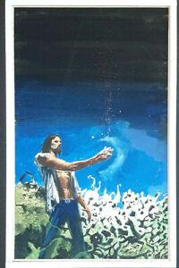 SIGNED Artist Jack Faragasso Sci Fi Paperback Cover Preliminary Original Art