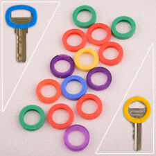 16x bunte schlüsselkennringe schlüsselkappen rund schlüssel abdeckungen kennring
