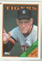 FREE SHIPING-MINT-1988 Topps Sparky Anderson Detroit Tigers #14 PLUS BONUS CARDS