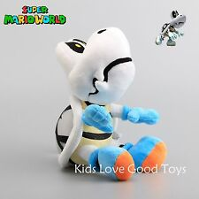 "New Super Mario Bros. Dry Bones Turtle Plush Doll Soft Stuffed Toy 11"" Teddy"