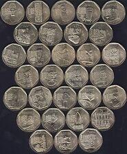 PERU 30 coins 1 Nuevo Sol 2010-16 UNC ALL COMMEMORATIVE