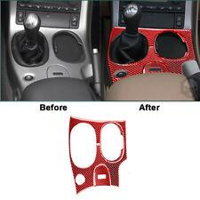 Red Carbon Fiber Gear Shift Panel Cover Trim For Chevrolet Corvette C6 2005-2007