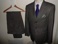PAULO CONTE Milano Mens Suit Luxury Italian Single Breasted 2 PIECE 38R W34 L33
