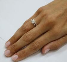 DIAMOND RING SET ROUND 2.00 CT D SI1 14k WHITE GOLD ANNIVERSARY ENGAGEMENT NIB