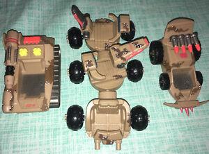 💥 Tank Jeep Triple Trailer ZBOTS Robot Figure Camo MILITARY Combat VEHICLE lot