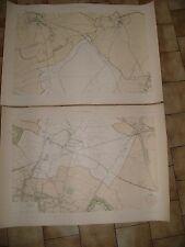 Très Grande carte détaillée de LA COURNEUVE environ  1899 Seine saint Denis