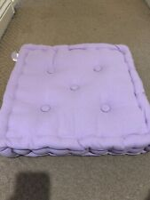 "Cotton Plain Floor Cushion Mauve 16""x16"" (40cmx40cm) BNWT"