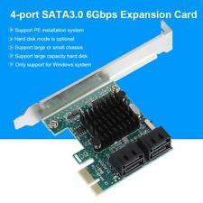 SATA 3.0 Erweiterungskarte 4-Port PCIE auf SATA 3.0 Karten Adapter 6G SA3004