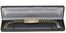 Gold POKER CHAMPION BRACELET made with Swarovski Crystal Stones 8""