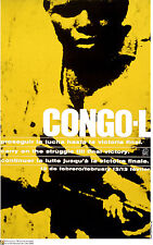 """Political cuban POSTER""""Congo Freedom Victory""""Africa.a11.Socialist History art"""