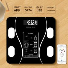 SMART DIGITAL ELECTRONIC GLASS LCD WEIGHING BODY SCALES BATHROOM HELPS LOSE FAT