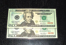 2004 Uncirculated $20. Notes - # 1738 to 1739 - New York - 2 In Sequence