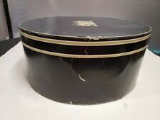 Vintage Oval Hat Box With Insert