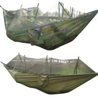 Portable Camping Outdoor Hammock Nylon Hanging Bed Sleeping Swing Mosquito Net