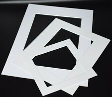 White Photo Picture Frame Mounts Bevel Cut 1.4mm White Core Mount board