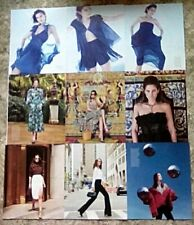 * Catherine McNeil Clippings Pack 40 Full Pages Harpers Vogue Glamour Porter + *