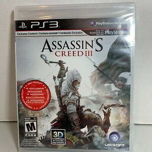 Brand New Sealed Assassin's Creed III 3 (Sony PlayStation 3, 2012) PS3 Game