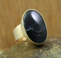 Iolite Gemstone Women's Handmade Ring Size 8 US 925 Sterling Silver Jewelry