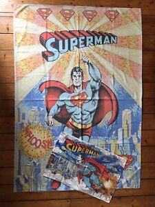 Vintage 1979 Superman Single Duvet Cover & Pillowcase DC Comics Superhero