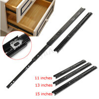"""3 Section Soft-Close Ball Bearing Drawer Slides Full Extension 11""""-15"""""""