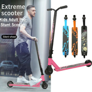 Pro Stunt Scooter Push Kick Trick Scooters 2 Wheels Kids Adult City Outdoor Gift