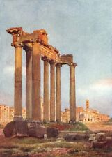 ROME. Temple of Saturn Portico Dii Consentes 1905 old antique print picture