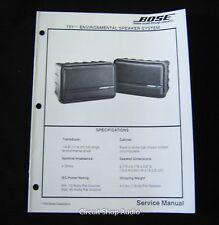 Original Bose 151 Environmental Speaker System Service Manual