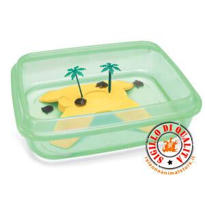 Imac tartarughiera NINJA vaschetta tartarughe aperta - isola e palme 50x40x14,5