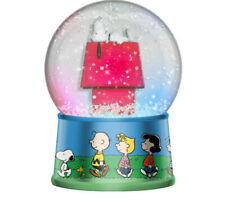 """Peanuts Group Walk Outside Large 6"""" Light Up Snow Globe Charlie Brown Snoopy"""