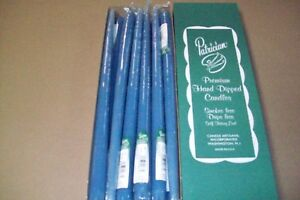 """15"""" PATRICIAN CANDLES SLATE BLUE"""