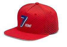 Ferrari Kimi Raikkonen #7 Flatbrim Hat in Red