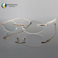 Fashion Metal Alloy Women's  Eyeglass Frame Rimless Eyewear Optical Spectacles