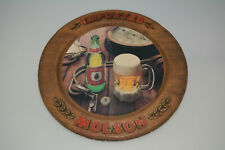 RARE VINTAGE IMPORTED MOLSON ALE CANADIAN BEER BAR SIGN ADVERTISING FAUX WOOD