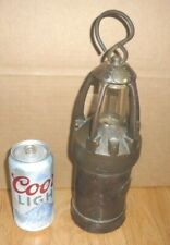 Antique 19th Century Iron Ship'S Lantern. Holland. Very Old. Patina
