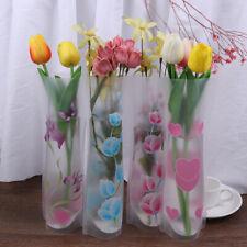 Portable Foldable Vase Office Home Decoration Random PVC Plastic Flower Vase EP