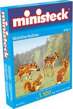 Ministeck Pixel Puzzle (31329): WILD animaux de compagnie ( 4 En 1 ) 1100 pièces