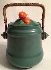 VINTAGE BEAUTIFUL ERPHILA ART POTTERY BISCUIT/COOKIE JAR CZECHO SLOVAKIA