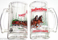 Budweiser Beer Steins Clydesdales Horses Mug Glass 1996 Vintage Lot of 7