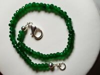 10cts Green Colour Dyed Quartz Silver Plated Bracelet