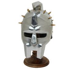 Medieval Style Miniature Spaniard Gladiator Maximus Helmet Display with Stand