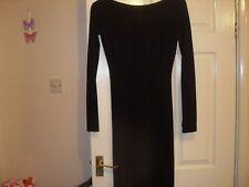 TARA JARMON DRESS SIZE 36 (uk8) BLACK DETAILED BOW BACK USED